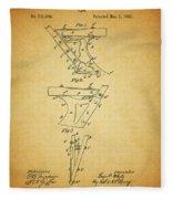 1885 Plow Patent Fleece Blanket