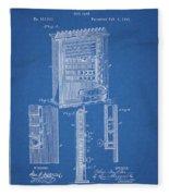 1885 Pool Rack Patent Fleece Blanket
