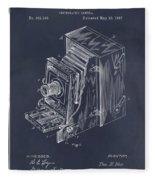 1887 Blair Photographic Camera Blackboard Patent Print Fleece Blanket