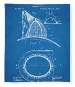 1889 Hopkins Fireman's Hat Blueprint Patent Print Fleece Blanket