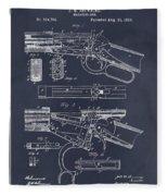 1894 Winchester Lever Action Rifle Blackboard Patent Print Fleece Blanket