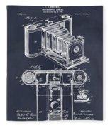 1899 Photographic Camera Patent Print Blackboard Fleece Blanket
