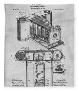 1899 Photographic Camera Patent Print Gray Fleece Blanket