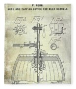 1902 Beer Tapping Device Patent Fleece Blanket