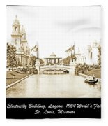 1904 World's Fair Lagoon And Electricity Building Fleece Blanket