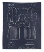 1914 Hockey Gloves Blackboard Patent Print Fleece Blanket