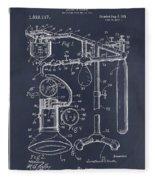 1919 Anesthetic Machine Blackboard Patent Print Fleece Blanket