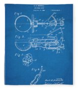 1924 Ice Cream Scoop Blueprint Patent Print Fleece Blanket