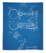 1924 Ice Cream Scoop Blueprint Patent Print Fleece Blanket