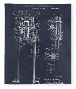 1929 Harley Davidson Front Fork Blackboard Patent Print Fleece Blanket