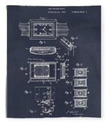 1930 Leon Hatot Self Winding Watch Patent Print Blackboard Fleece Blanket