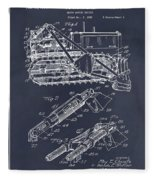 1932 Earth Moving Bulldozer Blackboard Patent Print Fleece Blanket