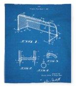 1933 Soccer Goal Blueprint Patent Print Fleece Blanket