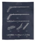 1934 Hockey Stick Patent Print Blackboard Fleece Blanket