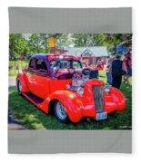 1935 Dodge Coupe Hot Rod Gasser Fleece Blanket