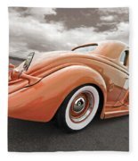 1935 Ford Coupe In Bronze Fleece Blanket