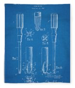 1935 Phillips Screw Driver Blueprint Patent Print Fleece Blanket