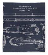 1935 Union Pacific M-10000 Railroad Blackboard Patent Print Fleece Blanket