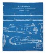 1935 Union Pacific M-10000 Railroad Blueprint Patent Print Fleece Blanket