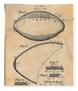 1936 Reach Football Antique Paper Patent Print Fleece Blanket