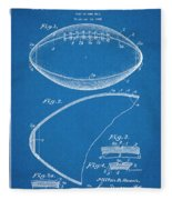 1936 Reach Football Blueprint Patent Print Fleece Blanket
