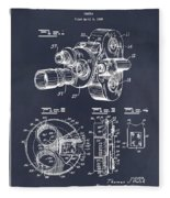 1938 Bell And Howell Movie Camera Patent Print Blackboard Fleece Blanket