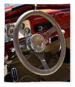 1938 Pontiac Silver Streak Interior Fleece Blanket
