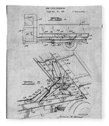 1939 Dump Truck Gray Patent Print Fleece Blanket