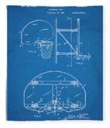 1944 Basketball Goal Blueprint Patent Print Fleece Blanket