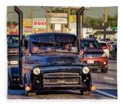 1951 Dodge Fargo Tractor Truck Fleece Blanket