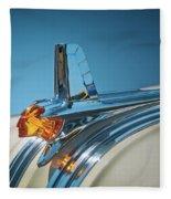 1953 Pontiac Hood Ornament Fleece Blanket