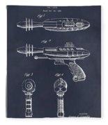 1953 Ray Gun Toy Pistol Blackboard Patent Print Fleece Blanket