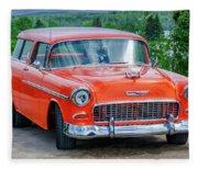 1955 Chevrolet Bel Air Nomad Fleece Blanket