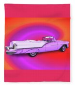 1957 Oldsmobile 98 Starfire Fleece Blanket