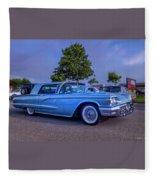 1960 Ford Thunderbird Fleece Blanket
