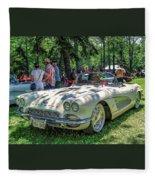 1961 Chevrolet Corvette 002 Fleece Blanket