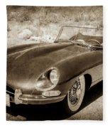 1963 Jaguar Xke Roadster-111scl Fleece Blanket by Jill Reger