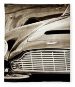 1965 Aston Martin Db6 Short Chassis Volante Grille-0970scl Fleece Blanket by Jill Reger