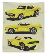 1969 Camaro Fleece Blanket