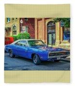 1970 Dodge Charger R/t Fleece Blanket