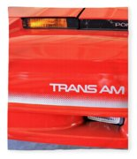 1986 Pontiac Trans Am With Front Lights And Logos Fleece Blanket