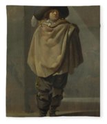 A Standing Man  Fleece Blanket
