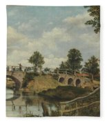 An Old Bridge At Hendon  Middlesex  Fleece Blanket