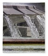 Arthur J. Will Memorial Fountain At Grand Park Fleece Blanket