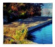 Autumn Colors In Kearney Lake Fleece Blanket