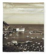 Avalon Harbor - Catalina Island, California Fleece Blanket