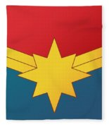 Captain Marvel 2019  Fleece Blanket