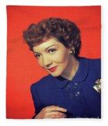 Claudette Colbert, Vintage Movie Star Fleece Blanket