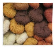 Colored Yarn Fleece Blanket