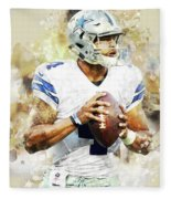 Dallas Cowboys.dak Prescott. Fleece Blanket